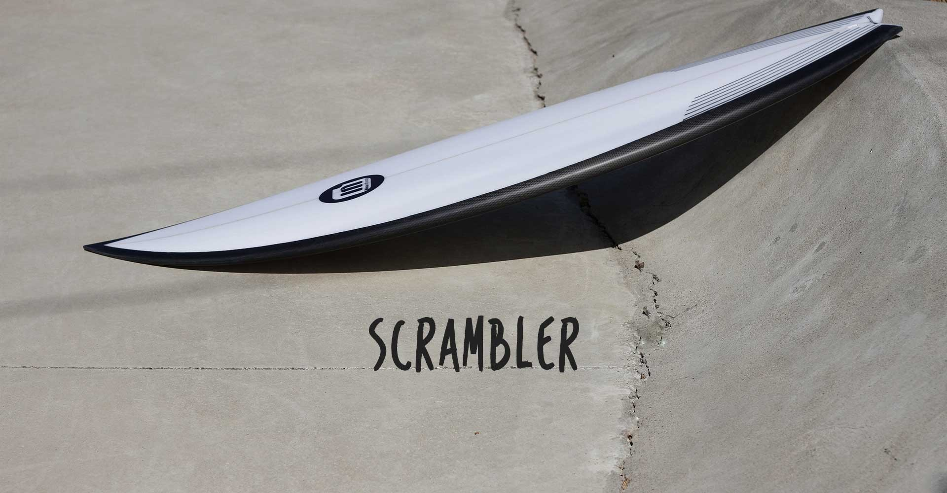 Micasurfboards high performance board for small waves with swallow tail, single concave bottom.
