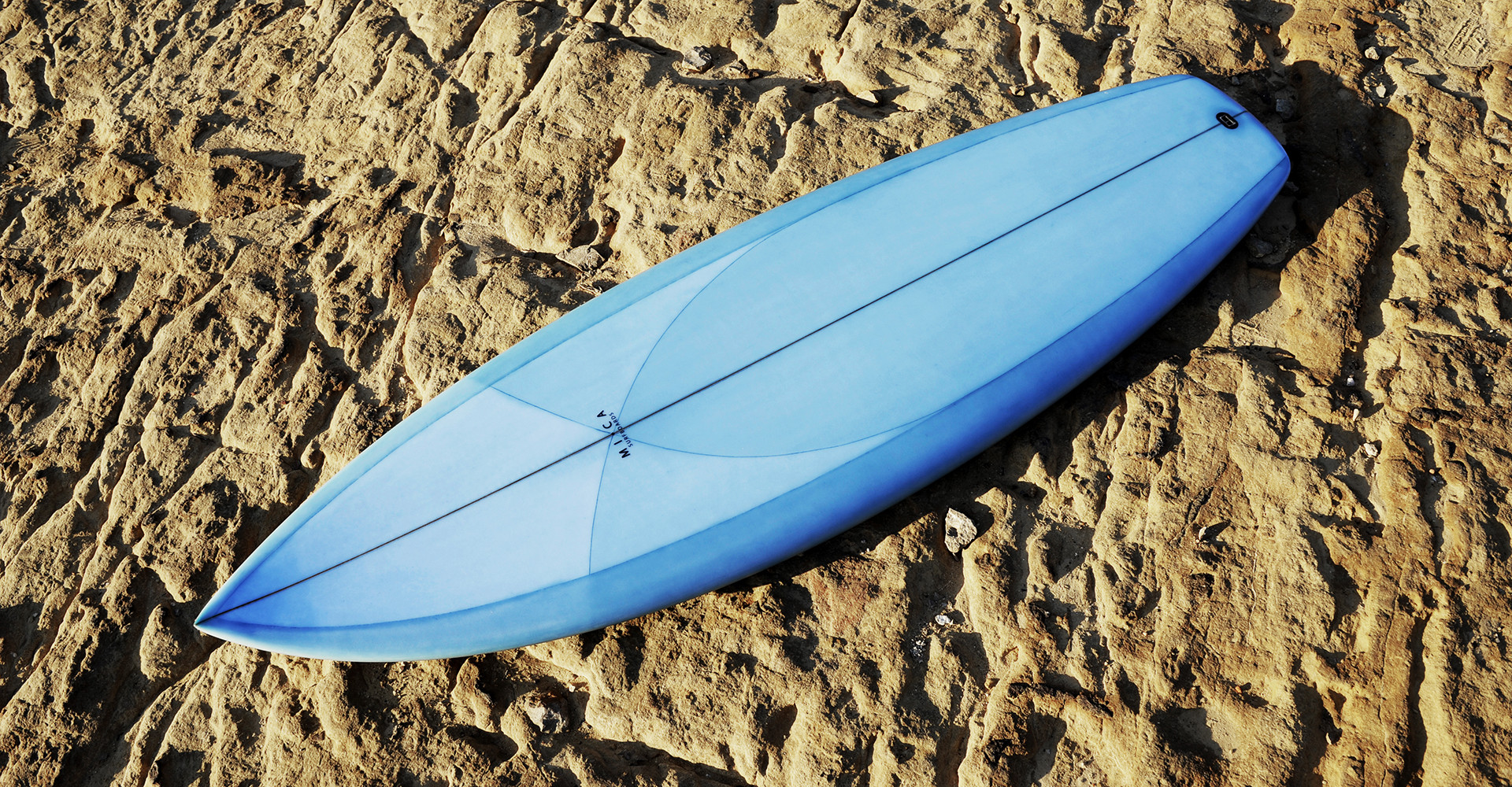 A custom board with Resin Tint - made by Micasurfboards