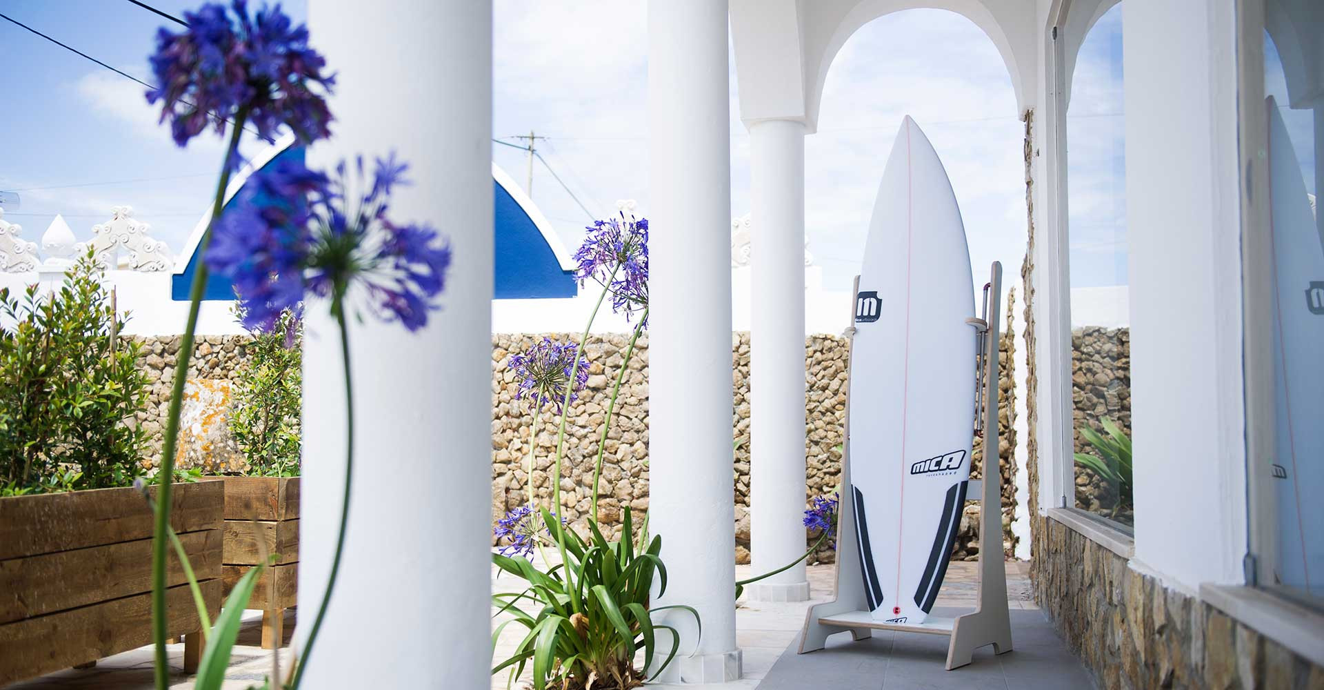 Shaper Mica Lourenço shapes custom made high performance surfboards in Ericeira, Portugal.