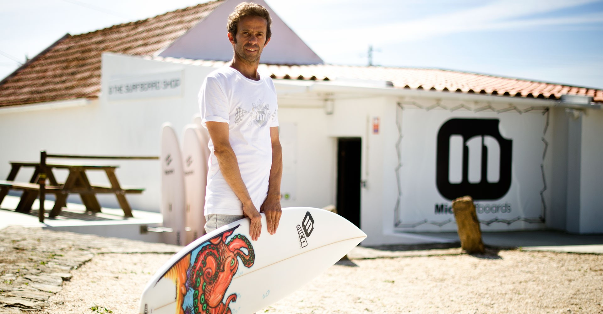 Local Mica Lourenço is Micasurfboards shaper at The Surfboard Shop in Ericeira, Portugal.
